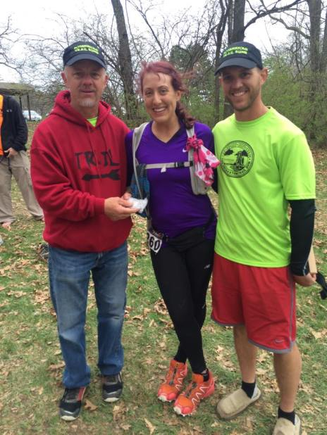 Eric and Rich, only the best race directors ever, handing me my finisher award.
