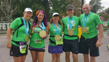 With the coaches after the Chicago Half Marathon