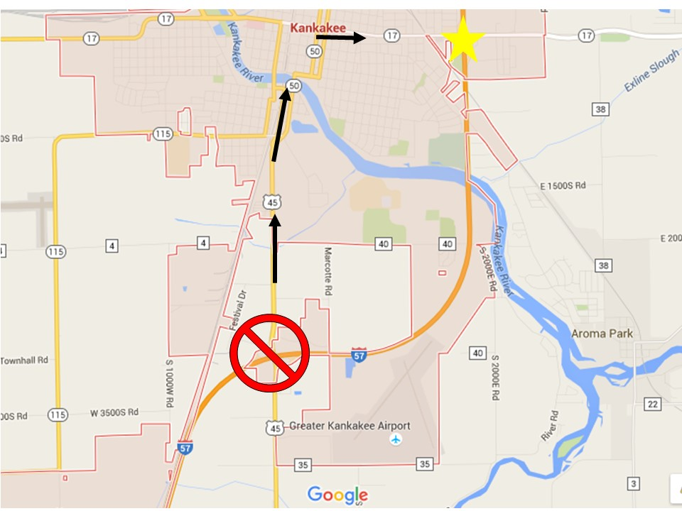 Kankakee Closures Map 2
