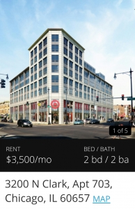 clark and belmont high priced apartments